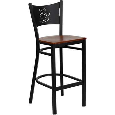 Buster 29 inch Bar Stool Finish: Cherry