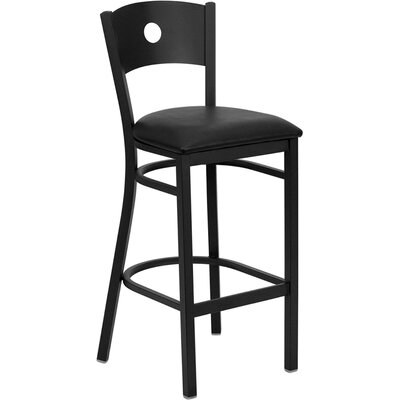 Buster 31 inch Bar Stool Upholstery: Black