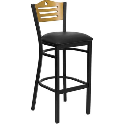 Buster 32 Bar Stool Upholstery: Black