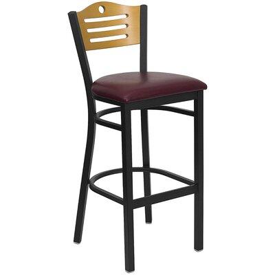 Buster 32 Bar Stool Upholstery: Burgundy