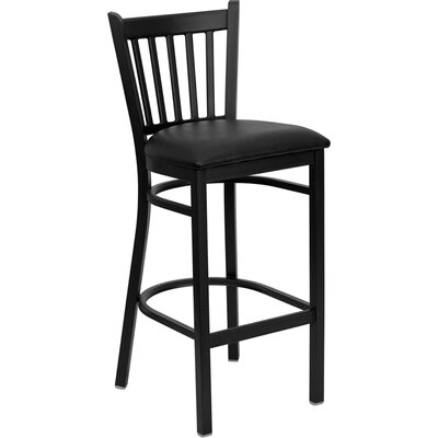 Buster 30 Bar Stool Upholstery: Black