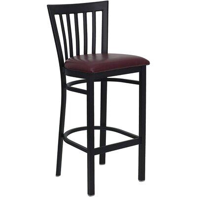 Buster 29 Bar Stool Upholstery: Burgundy