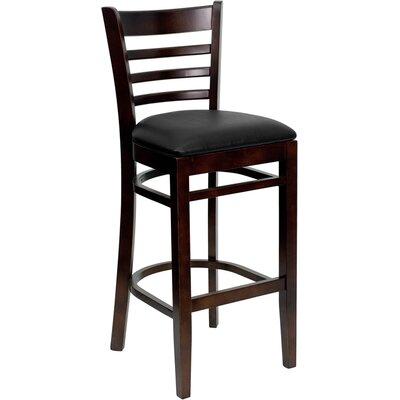 Dryden 29.25 Bar Stool Upholstery: Black