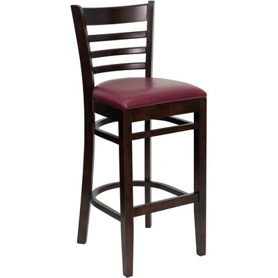 Dryden 29.25 Bar Stool Upholstery: Burgundy