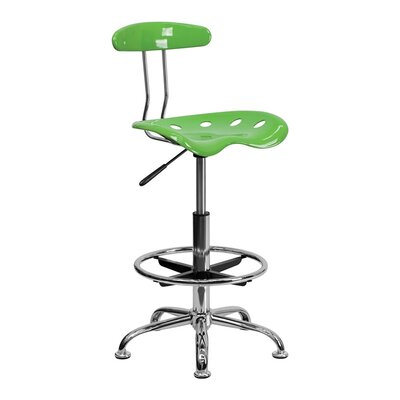Tractor Adjustable Height Swivel Bar Stool Finish: Spicy Lime