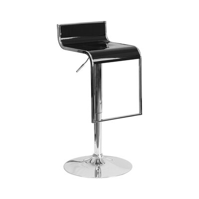 23 Swivel Bar Stool Upholstery: Black