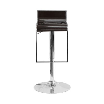 23 Swivel Bar Stool Upholstery: Brown