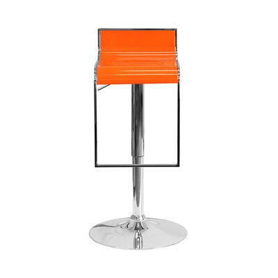 23 Swivel Bar Stool Upholstery: Orange