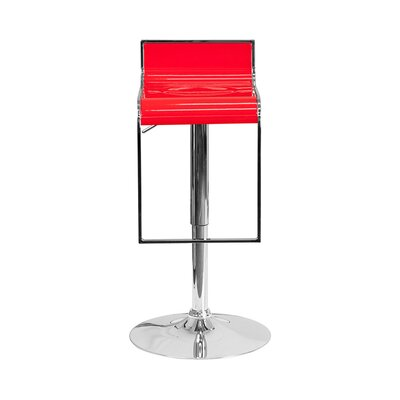 23 Swivel Bar Stool Upholstery: Red