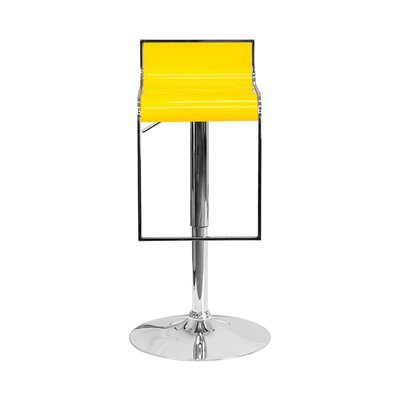 23 Swivel Bar Stool Upholstery: Yellow