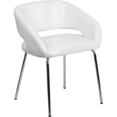 Leather Lounge Chair Finish: White