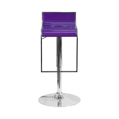 23 Swivel Bar Stool Upholstery: Purple