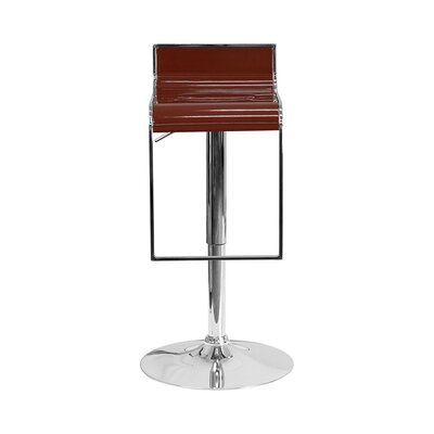 23 Swivel Bar Stool Upholstery: Burgundy