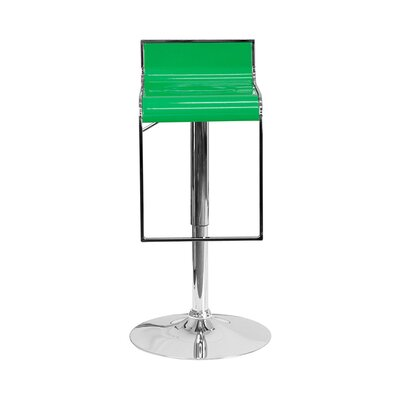 23 Swivel Bar Stool Upholstery: Green