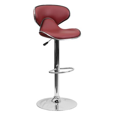 32.5 Swivel Bar Stool Upholstery: Burgundy