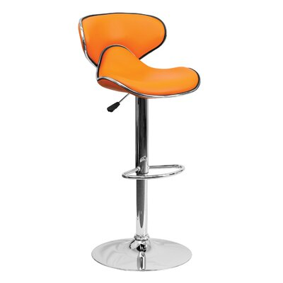 32.5 Swivel Bar Stool Upholstery: Orange