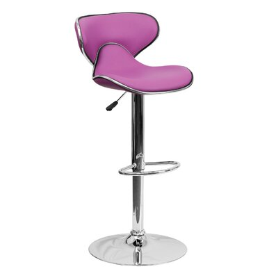 32.5 Swivel Bar Stool Upholstery: Purple