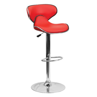 32.5 Swivel Bar Stool Upholstery: Red