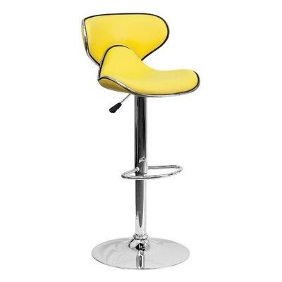 32.5 Swivel Bar Stool Upholstery: Yellow