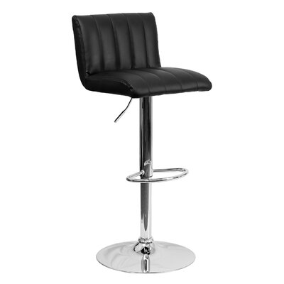 24.75 Swivel Bar Stool Upholstery: Black