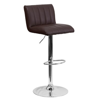 24.75 Swivel Bar Stool Upholstery: Brown