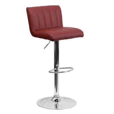 24.75 Swivel Bar Stool Upholstery: Burgundy