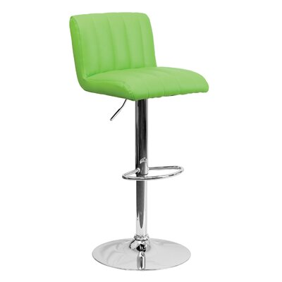 24.75 Swivel Bar Stool Upholstery: Green