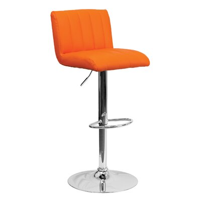 24.75 Swivel Bar Stool Upholstery: Orange