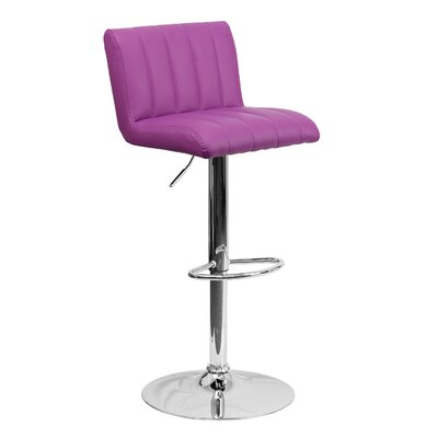 24.75 inch Swivel Bar Stool Upholstery: Purple