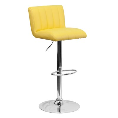 24.75 Swivel Bar Stool Upholstery: Yellow