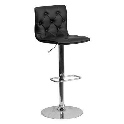 23.5 Swivel Bar Stool Upholstery: Black