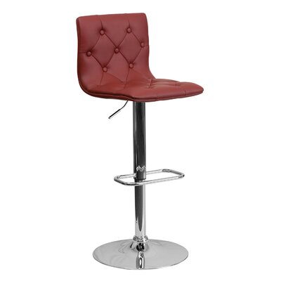 23.5 Swivel Bar Stool Upholstery: Burgundy