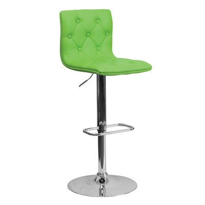 23.5 Swivel Bar Stool Upholstery: Green