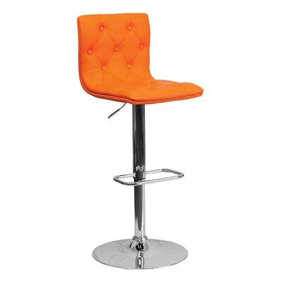 23.5 Swivel Bar Stool Upholstery: Orange