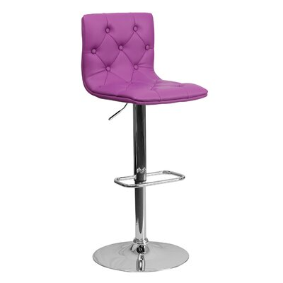 23.5 Swivel Bar Stool Upholstery: Purple