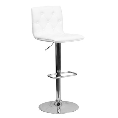 23.5 Swivel Bar Stool Upholstery: White