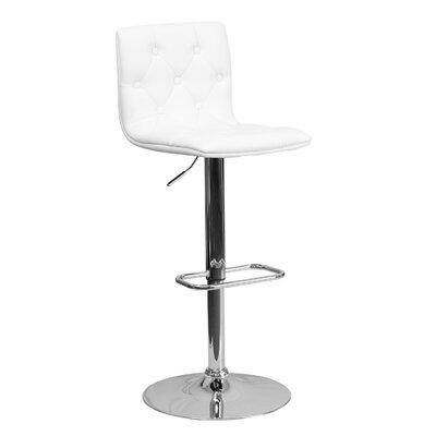 23.5 Swivel Bar Stool Upholstery: White