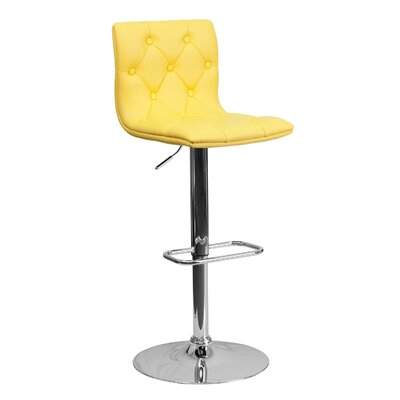 23.5 Swivel Bar Stool Upholstery: Yellow