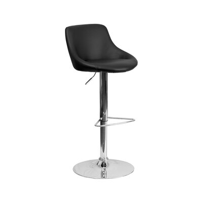 32 inch Swivel Bar Stool Upholstery: Black