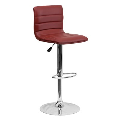 33 Swivel Bar Stool Upholstery: Burgundy
