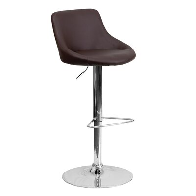 32 inch Swivel Bar Stool Upholstery: Brown