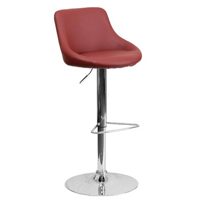 32 inch Swivel Bar Stool Upholstery: Burgundy
