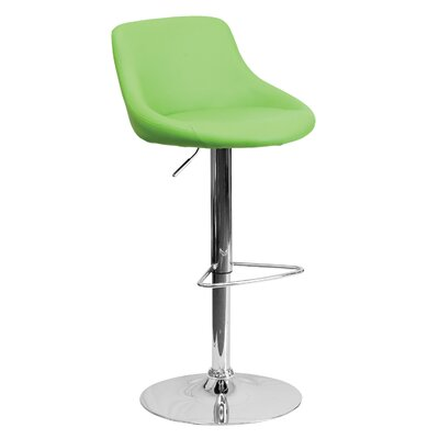 32 Swivel Bar Stool Upholstery: Green
