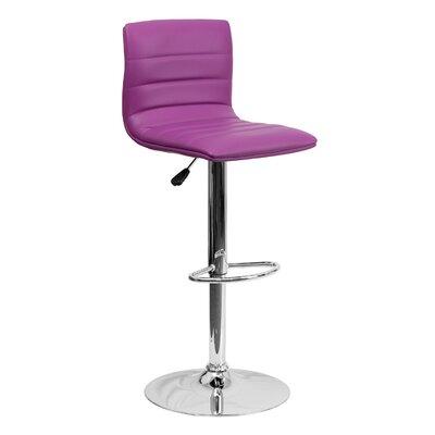 33 Swivel Bar Stool Upholstery: Purple