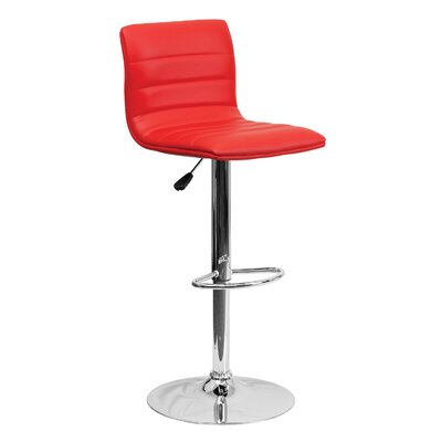 33 inch Swivel Bar Stool Upholstery: Red