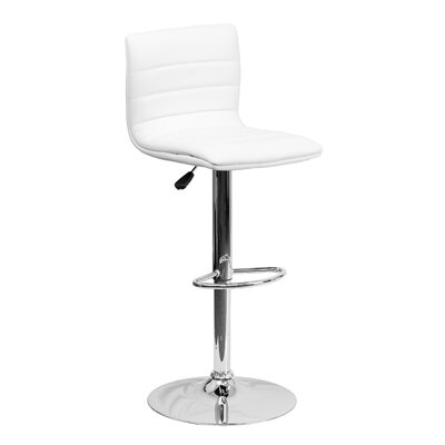 33 Swivel Bar Stool Upholstery: White
