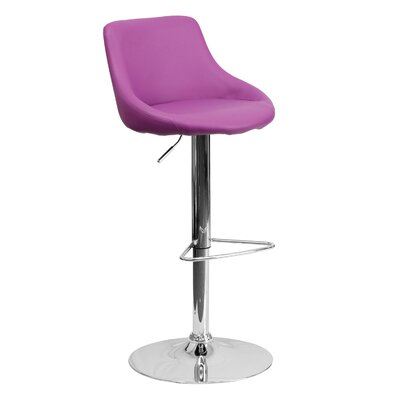 32 inch Swivel Bar Stool Upholstery: Purple