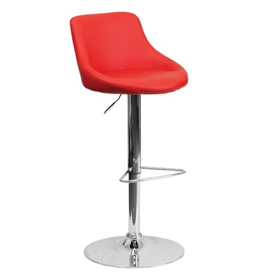 32 Swivel Bar Stool Upholstery: Red