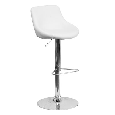 32 Swivel Bar Stool Upholstery: White
