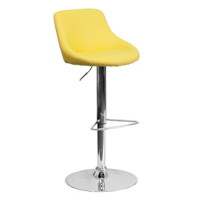 32 Swivel Bar Stool Upholstery: Yellow